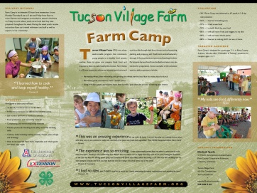 Farm camp display poster